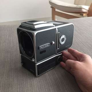 Hasselblad 500 EL/M 6x6 Medium Format Camera With Waist Level Finder And 9v Battery Adapter