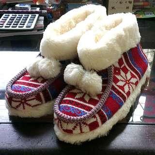 可愛聖誕風,冬天保暖室內拖