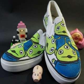 💕全新含運 迪士尼三眼怪懶人鞋