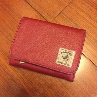porter 紅色小皮夾