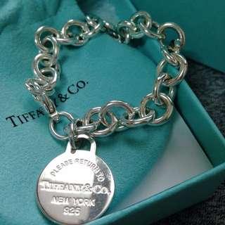 Tiffany925圓牌手環