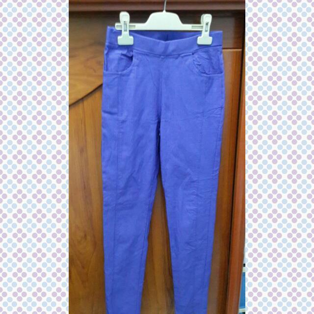 全新-藍紫色內搭褲