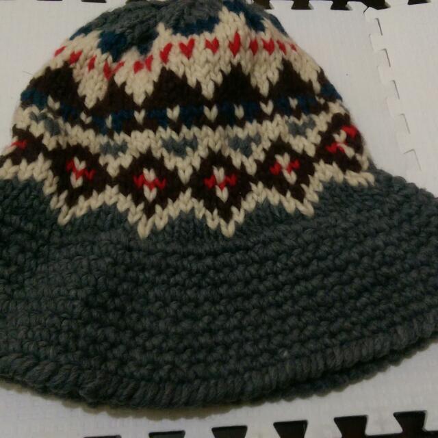 毛線漁夫帽
