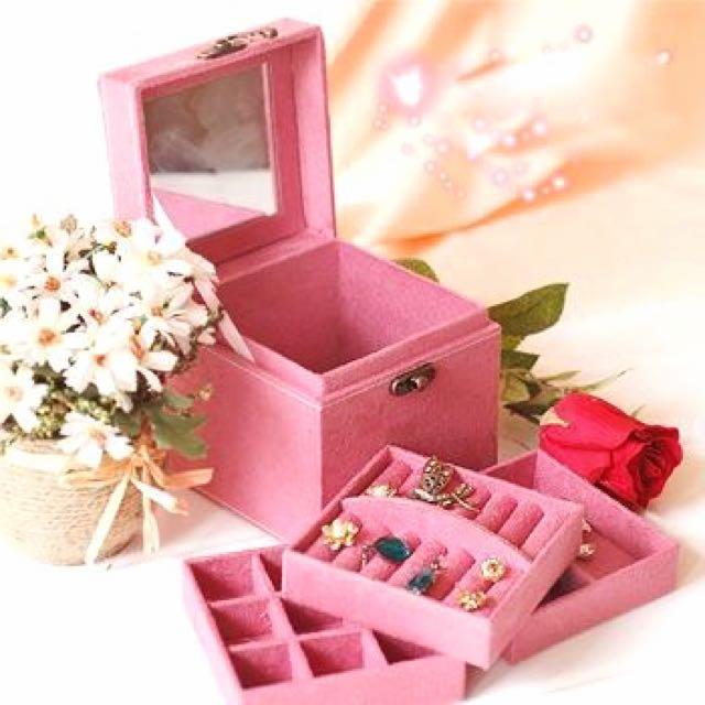 歐式公主風三層飾品盒/首飾盒/收納盒