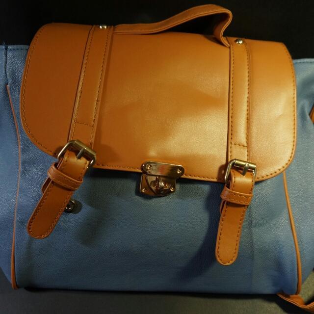 👉天藍小鋪甜美藍側背包