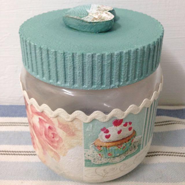 立體愛心玻璃罐(糖果罐) 蝶古巴特手工藝品