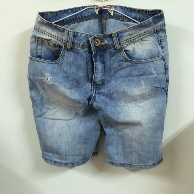 COTTONON 牛仔五分褲