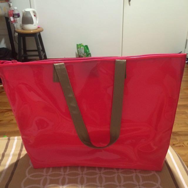 Jelly Tote Bag-fushia