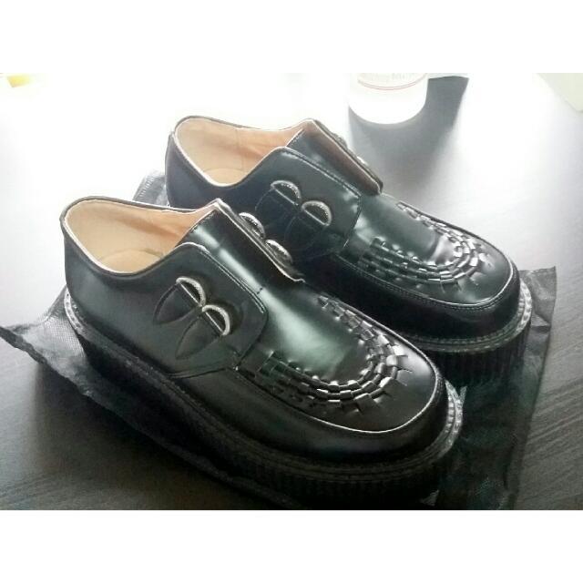 英國Queencity厚底牛津德比鞋 underground georgecox 同款 皮革 增高