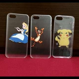 Iphone5/5s透明卡通殼