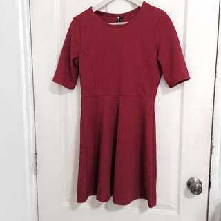 Cotton On Red Dress In Size M (Preloved)