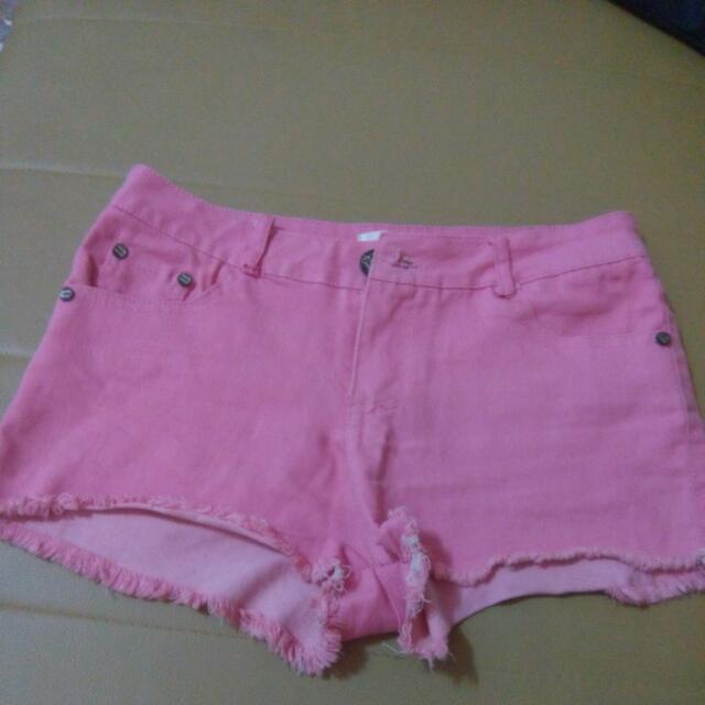 粉色經典短褲