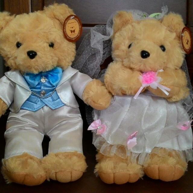 婚禮佈置小熊娃娃