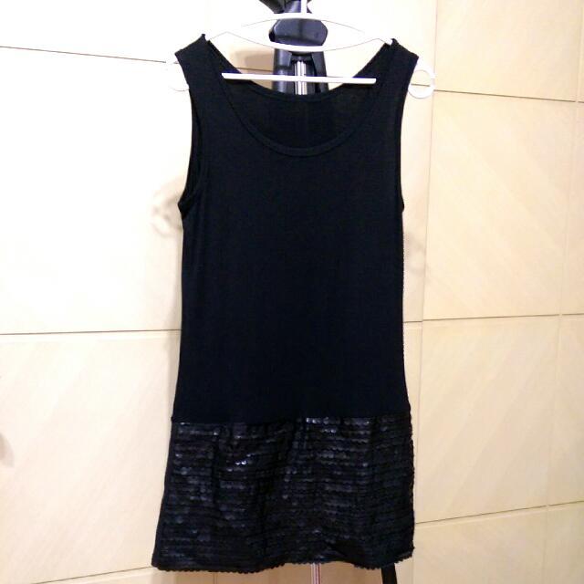 (全新) 黑色 背心裙