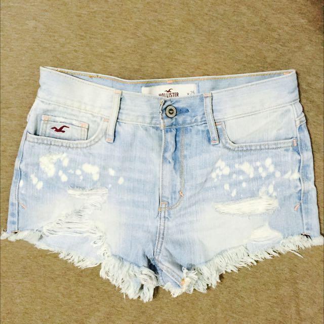 (降價)HOLLISTER 刷白短褲 1號