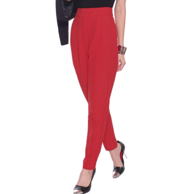 Love Bonito Pharyne Peg Leg Pants In Red (Size S)