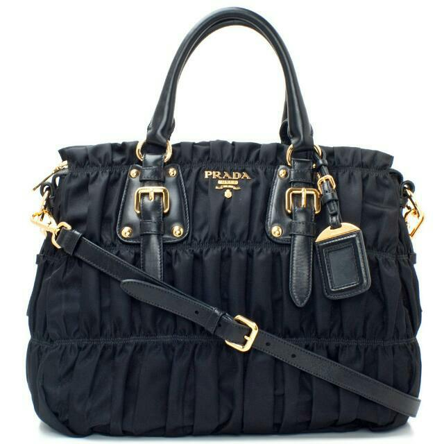 4e61f00a01957c PRADA Tessuto Gaufre BN1336 BLACK, Women's Fashion on Carousell