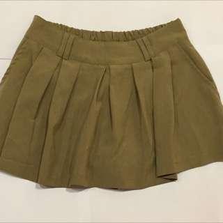 微百褶褲裙