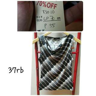 CLEARANCE SALE Recommended!Black And White Polyester Sleeveless