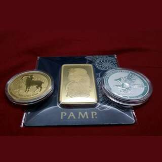 Gold Bar, Coins And Silver Bars Coins