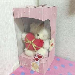 熊熊愛你高白大玩偶/情人節/玩具/禮物/探病禮/送女孩小孩最佳選擇