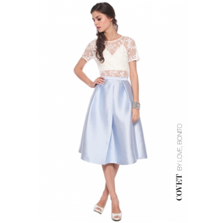 Love Bonito Covet Syretia Flare Skirt in Power Blue (Size S)