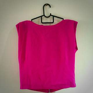 Hot Pink Cropped Top