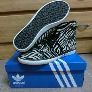 正品 Adidas斑馬紋低統帆布鞋