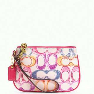 Bnwt Authentic Coach Wristlet In Scribble Print Non Nego $80mailed