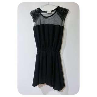 全新雪紡洋裝(黑)