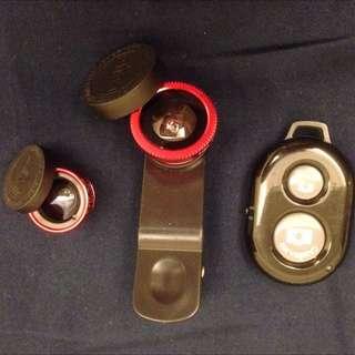 (待匯)魚眼 鏡頭 自拍 藍芽 遙控 遙控器