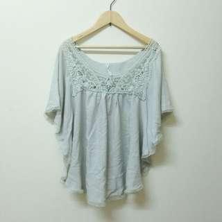 二手✌️淺綠雪紡紗罩衫
