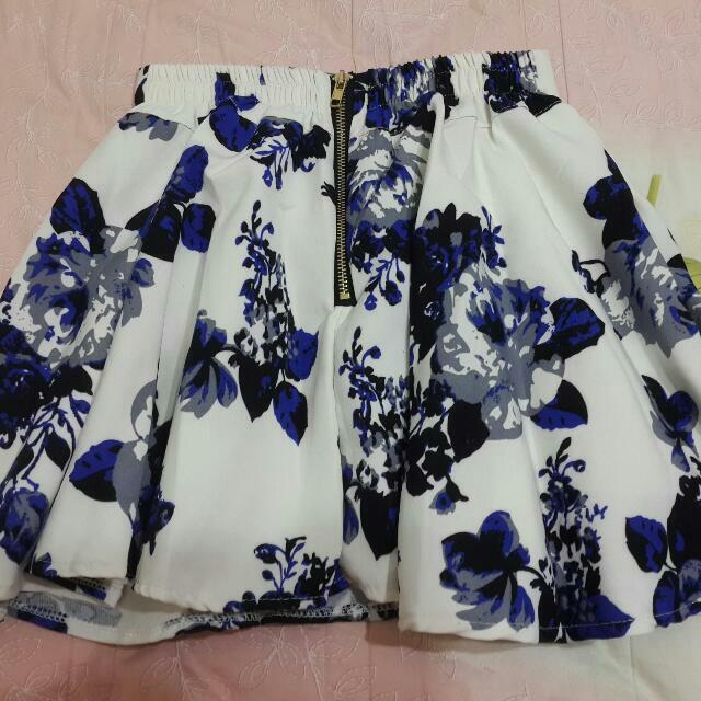 印花短褲裙