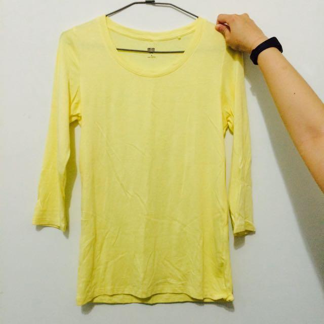 黃色七分袖