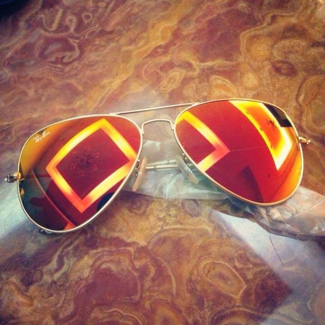 雷朋墨鏡 Ray-ban RB3026橘色 全新正品