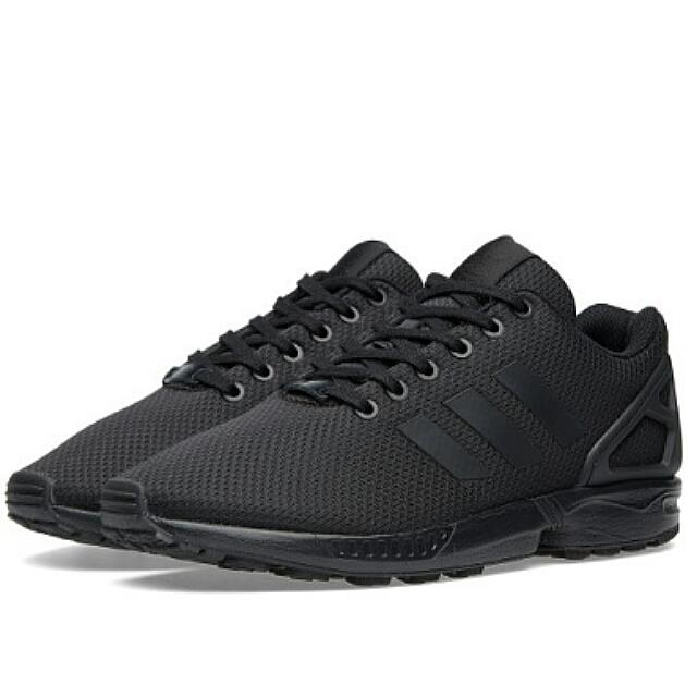 hot sale online 3c625 71239 Adidas Zx Flux Triple Black, Men's Fashion on Carousell