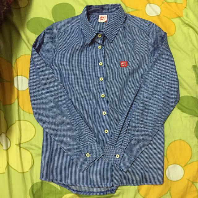 Doctor J 藍細格襯衫 版小s號