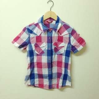 9成新💫正品EVISU格子襯衫