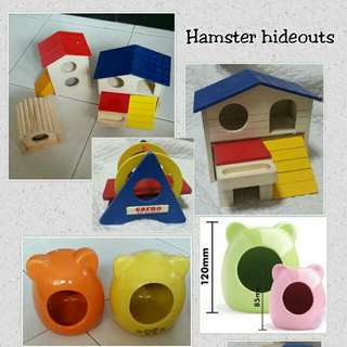 Hamster Hide Outs House Brand New Wood Ceramic Rseller