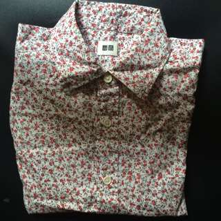Uniqlo Floral S/S Shirt