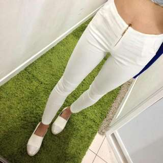 全新 白色彈性褲