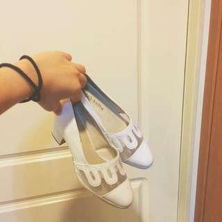 復古低跟鞋