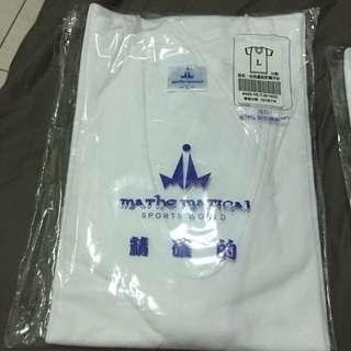白色羅紋針織汗衫(短袖內衣-全新未拆無瑕疵)