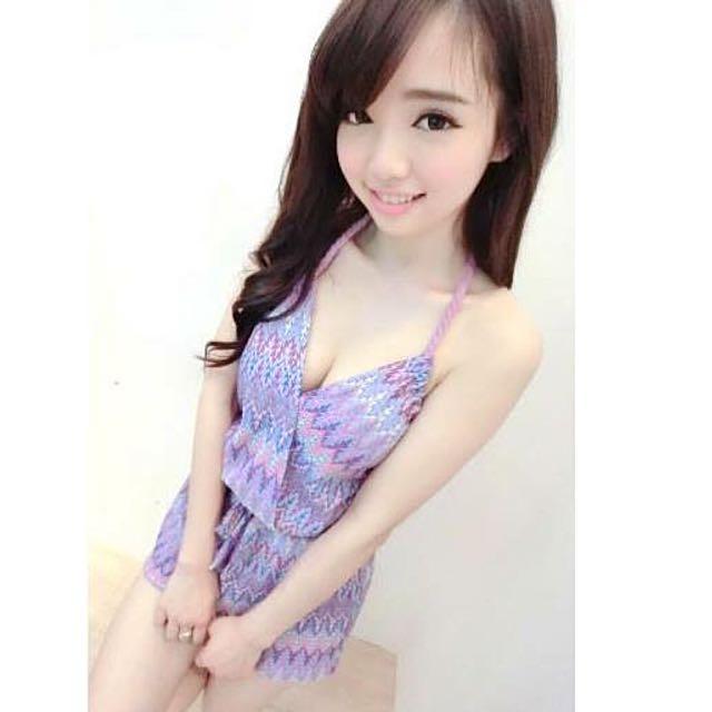 紫圖騰連身褲