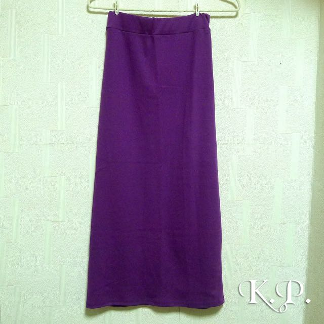 奶昔大哥紫彈性窄裙