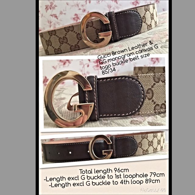 e5834529aba Authentic Gucci Brown Leather and GG Monogram Canvas