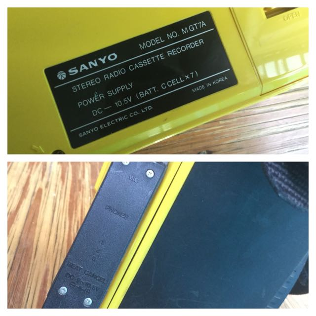 Vintage Sanyo Radio Cassette Player