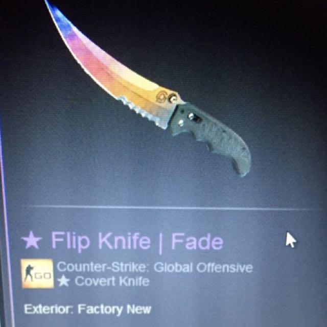 WTS Flip Knife Fade FN 180$