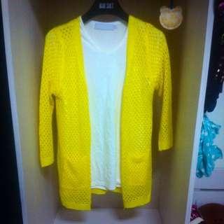 ✨鮮黃色針織外套✨