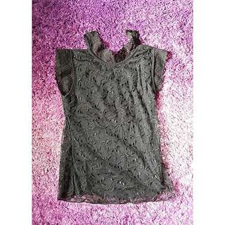 Lacy Cut-Out Top